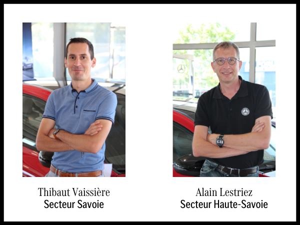 Thibaut Vaissière et Alain Lestriez, conseillers dédiés aux entreprises en Pays de Savoie.