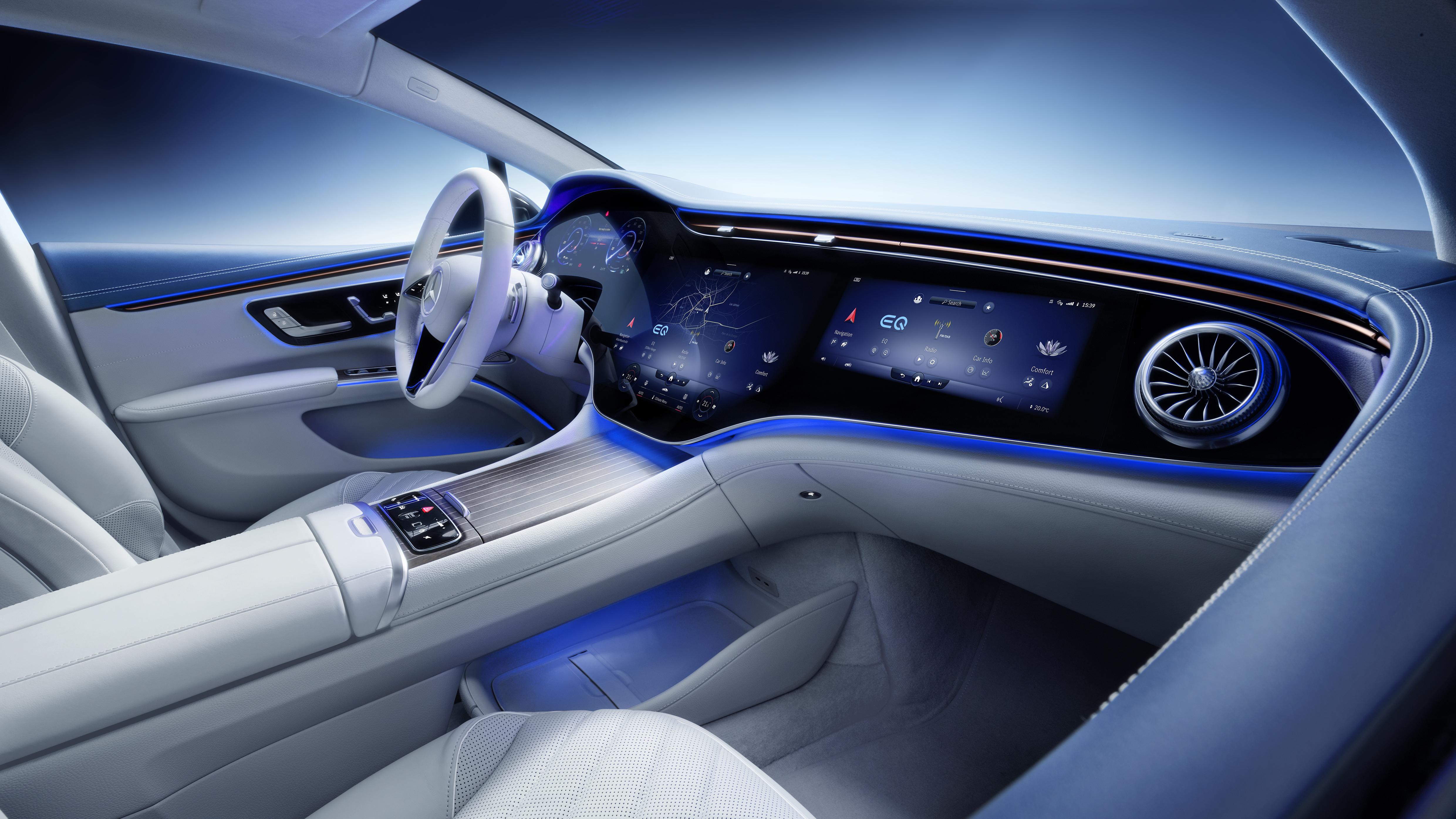 Mercedes-EQ, EQS, Interieur, MBUX Hyperscreen Mercedes-EQ, EQS, Interior, MBUX Hyperscreen